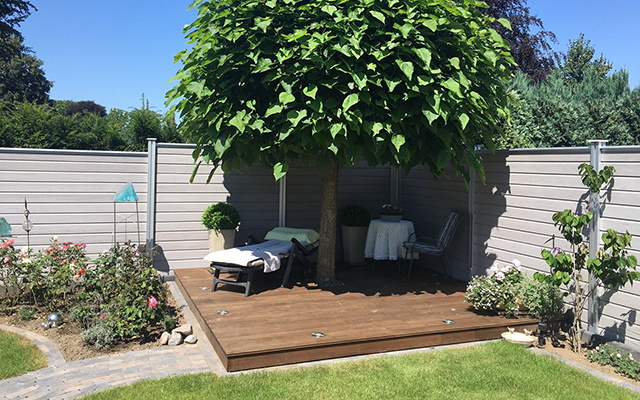 Terrassendielen für Ihren Garten finden Sie bei Holz Schröer