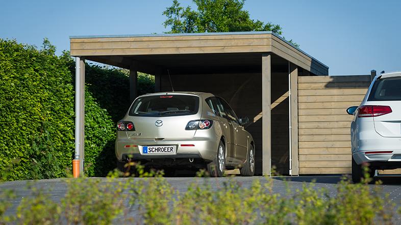 Carports von Holz-Schröer in Dingden am Niederrhein.