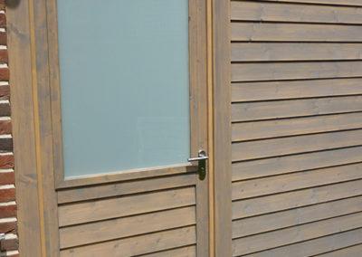 Carport mit Wandverkleidung CONO und Tür
