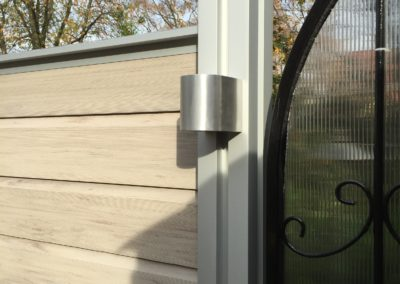 Beleuchtung und Strahler für Gartenzaun