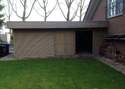 CS Gartenhaus Cara Rombus Flachdach mit großer Schiebetür