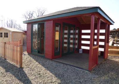 CS Gartenhaus Cara easy mit Terrasse und Walmdach