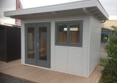 CS Gartenhaus als Holzständerwerk mit Flachdach