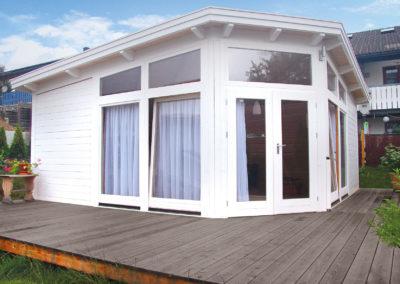 CS Gartenhaus in Maßanfertigung mit großer Fensterfront