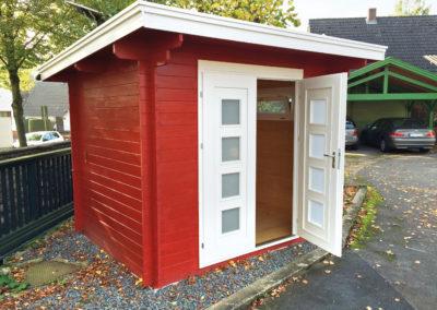 CS Gartenhaus mit Pultdach und Doppeltür