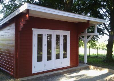 CS Gartenhaus mit Pultdach und Falttür