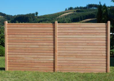 Gartenzaun Douglasie Holz Rhombusprofil