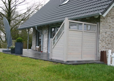 Gartenzaun Pinzgau Lärche mit Aluminiumstreben