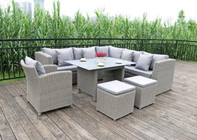 CS Geflecht Lounge mit hoher Sitzhöhe