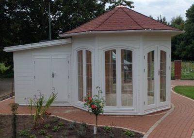 CS Pavillon 8-Eck, mit Anbau, weiß, Bild01