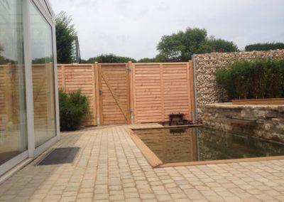 Sichtschutz Rhombus 95 mit Gartentor