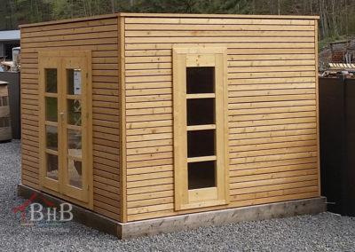 CS puristisches Gartenhaus ohne Dachüberstand