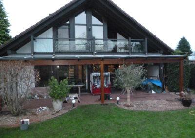 Glasüberdachung passend zum Haus
