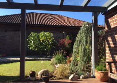 Terrassendach Echtglas individuell gefertigt Hamminkeln