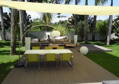 Terrassendeck terrafina mit Sonnensegel