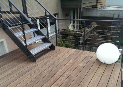 Terrassendiele Thermo Esche mit Verlegung