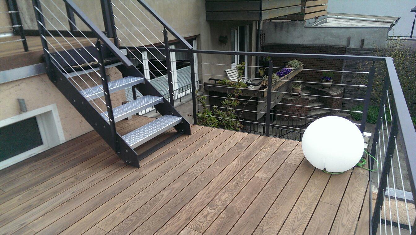 Great Terrassendiele Thermo Esche Mit Verlegung. WPC Terrassendielen Als  Geschlossenes Deck