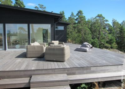 Terrassendielen ThermoEsche unbehandelt vergraut