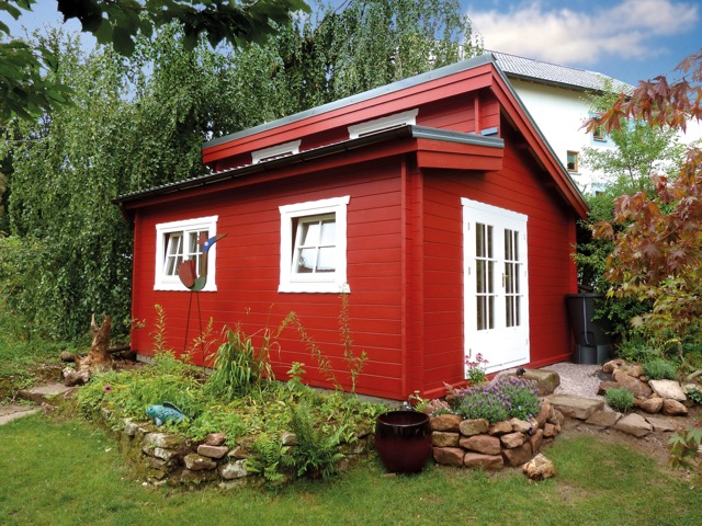 Individuelle Gartenhäuser. Worauf Sie schon vor dem Bau achten sollten.