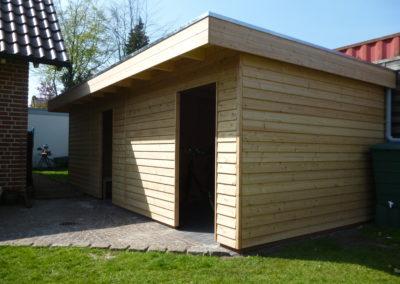 Gartenhaus mit Lärche Stülpschalung auf Maß (2)