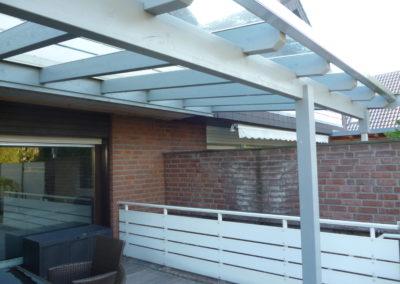 Terrassendach mit Klarglas