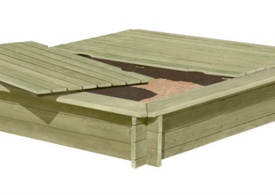 67043-W-67044 Holzabdeckung Sandkasten stabil